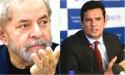Lula, na condição de réu, encara o juiz Sérgio Moro no dia 3 de maio
