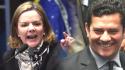 Gleisi publica vídeo de Moro: Afronta e pura inveja (veja o vídeo)
