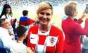 Presidente da Croácia faz jus ao poder feminino e esbanja simpatia na Copa do Mundo