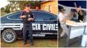 Policial agride covardemente idoso de 91 anos dentro de agência bancária (Veja o Vídeo)
