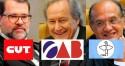 CUT, OAB, CNBB e outras entidades assinam manifesto sem pé, nem cabeça, de apoio ao STF
