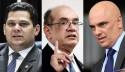 """Com CPI da Lava Toga """"na mesa"""", Alcolumbre tem encontro com Gilmar Mendes e Alexandre de Moraes em Portugal"""