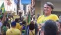 Manifestantes rezam onde Bolsonaro foi esfaqueado em Juiz de Fora (veja o vídeo)
