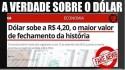 Esquerda esquece de corrigir valores pela inflação para culpar Bolsonaro pelos erros do PT