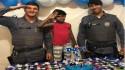 Policiais prestigiam aniversário de menino que sonha em ser policial