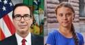 Greta leva lição histórica de secretário do Tesouro americano