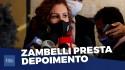 Inquérito das fake news: Carla Zambelli na Polícia Federal (Veja o vídeo)