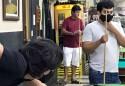 O jogador de sinuca 'Luizinho Mandetta', não seguiu o exemplo dos demais jogadores e ficou sem máscara