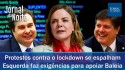 Protestos se espalham pelo Brasil, esquerda faz carta de exigências para Baleia Rossi, candidato de Maia (veja o vídeo)