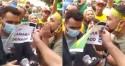 """Aos gritos de """"lixo e traidor"""", manifestantes enquadram Mamãe Falei (veja o vídeo)"""