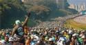 """Vídeo publicado por Bolsonaro mostra """"mar sem fim"""" de motocicletas em São Paulo (veja o vídeo)"""
