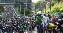 Sucesso da motociata em Salvador leva a esquerda ao desespero (veja o vídeo)