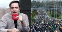 """Apresentador critica omissão da grande mídia em motociata em Salvador: """"A internet é forte, as pessoas sabem da realidade"""" (veja o vídeo)"""