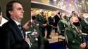 Ao lado de generais, Bolsonaro volta a dizer que tem o apoio das Forças Armadas (veja o vídeo)
