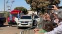 """Aos gritos de """"mito"""", multidão em Uberlândia enaltece o presidente (veja o vídeo)"""