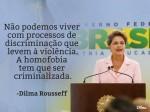 Dilma no Facebook pede a criminalização da homofobia