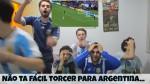 Desespero de jovens torcedores argentinos em decisão por pênaltis viraliza (veja o vídeo)
