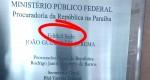 Erro crasso de português em placa do MPF será investigado