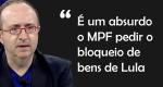 """Reinaldo Azevedo continua na defesa de Lula: """"É um absurdo o MPF pedir o bloqueio de bens de Lula"""" (veja o vídeo)"""
