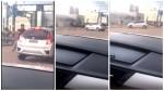 Em briga no trânsito, após discussão, mulher atropela o agressor (veja o vídeo)