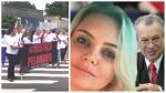 Mãe realiza manifestação contra avô-desembargador acusado de abuso contra a neta (Veja o Vídeo)