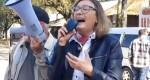 Rosário na frente do TRF-4 desanda a dizer besteiras, asneiras e disparar ofensas (Veja o vídeo)