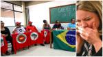 A degradante visita de Gleisi ao esvaziado movimento grevista do PT (Veja o Vídeo)