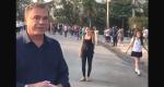Álvaro Dias visita destroços do museu e se surpreende com manifestação de apoio a outro candidato (Veja o Vídeo)