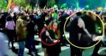 A intrigante cena em que uma mulher aparece portando uma faca em frente à casa de Bolsonaro (Veja o Vídeo)