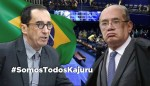 "Brasileiros manifestam apoio a Kajuru após ""ameaça"" de Gilmar Mendes"