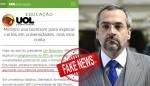 UOL publica gritante mentira sobre o Ministro da Educação e é desmentido pelo MEC (veja o vídeo)