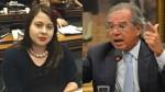 """Sâmia do PSOL inventa """"Dona Maria"""" e foge antes de ser desmentida por Guedes (Veja o Vídeo)"""