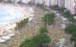 No RJ, manifestação já ocupa sete quarteirões