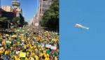 Helicóptero supostamente da Globo é recebido sob épicas vaias de manifestantes em SP (veja o vídeo)