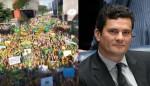 Manifestantes fazem homenagem ensurdecedora a Sérgio Moro (veja o vídeo)