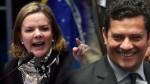 Desempenho de Moro incomoda e Gleisi inventa escandalosa mentira, que nem os petistas acreditam