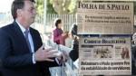 """AO VIVO - Bolsonaro: """"Quando a imprensa vai acabar com esta patifaria?"""" (Veja o Vídeo)"""