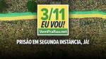 """Manifestação pela Prisão em Segunda Instância: """"DIGA NÃO À VINGANÇA DOS POSTES"""""""