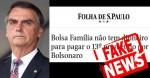 Jair Bolsonaro sobre Folha de SP: jornaleco campeão em fake news e desinformação