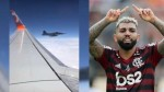 Avião do Flamengo é recepcionado e escoltado por caças da FAB (veja o vídeo)