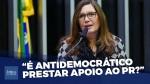 Nada é mais democrático do que o povo na rua, diz Bia Kicis (veja o vídeo)