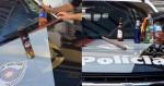 PM prende 'manifestantes' com coquetéis molotov, galão de gasolina e bastão de madeira em SP