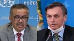 """Diretor da OMS, com 5 meses de atraso: """"Saúde e economia são inseparáveis"""". Bolsonaro não perdoa (veja o vídeo)"""
