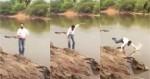 Candidato do PDT à prefeitura cai em rio durante gravação de campanha (veja o vídeo)