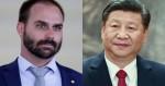 """Embaixada da China dá resposta """"ameaçadora"""" a Eduardo Bolsonaro"""