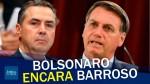 Voto impresso: Bolsonaro encara Ministro Barroso e solta o verbo (veja o vídeo)