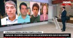 """Jornalistas da Rede Globo """"batem boca"""" ao vivo por causa de lockdown em Nova York (veja o vídeo)"""