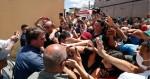 """No """"berço"""" dos Ferreira Gomes, Bolsonaro tem recepção calorosa: """"Mito!"""" (veja o vídeo)"""