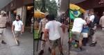Trabalhador encara guardas municipais, é agredido, reage e, com a ajuda do povo, impede apreensão de mercadorias (veja o vídeo)