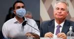 """Flávio Bolsonaro põe Renan no seu devido lugar: """"Vagabundo"""" (veja o vídeo)"""